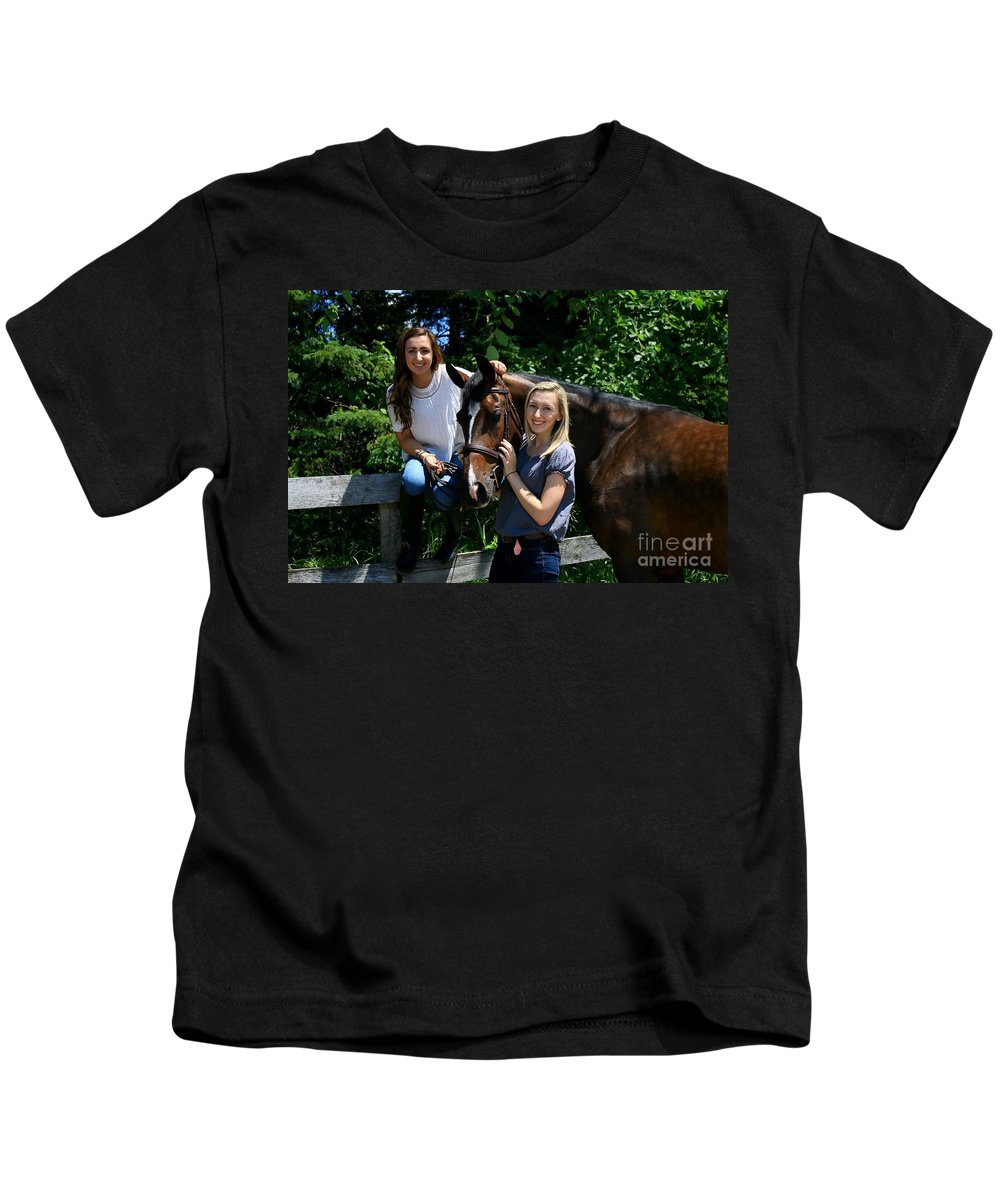 Kids T-Shirt featuring the photograph Lucia-cora13 by Life With Horses
