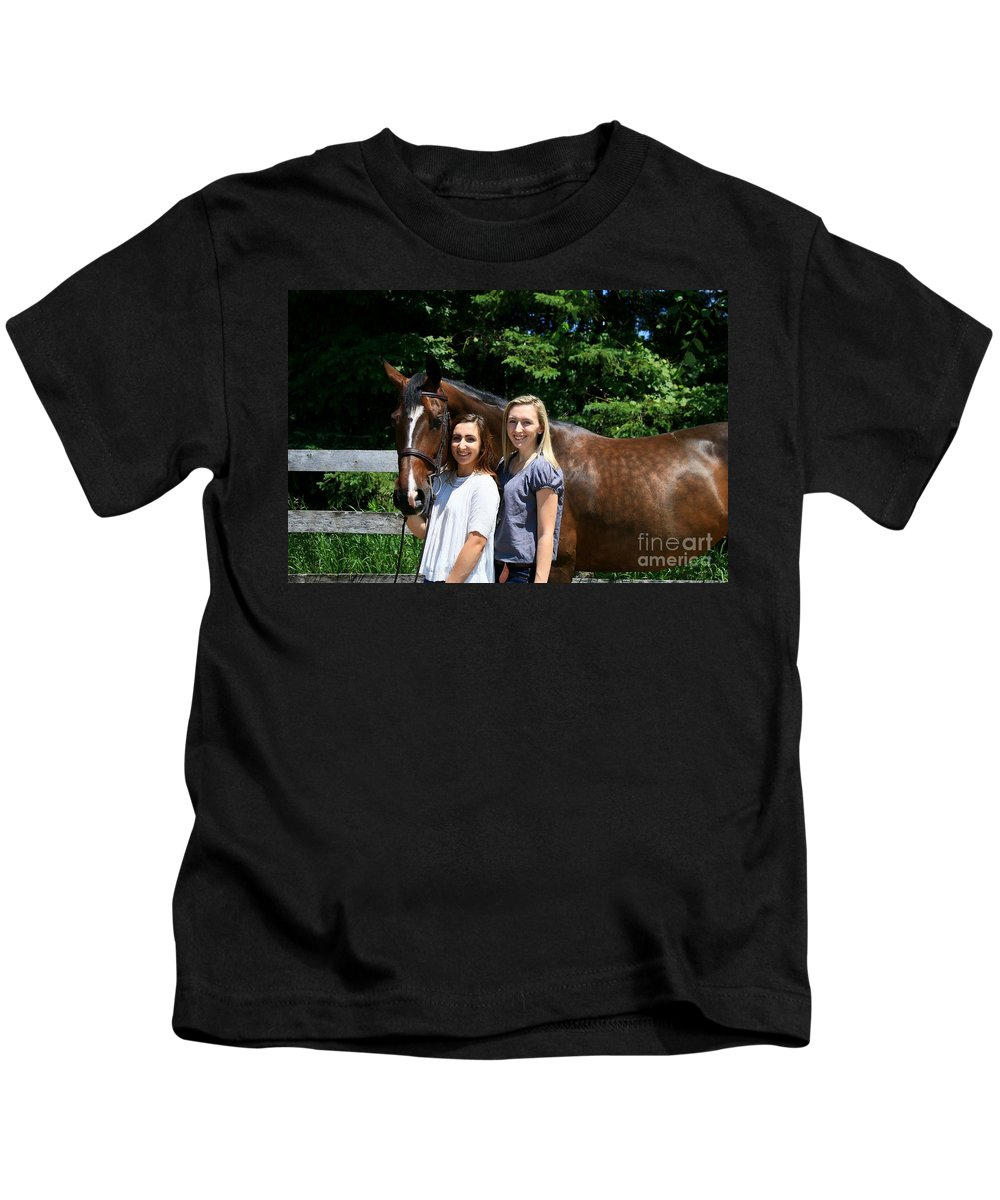 Kids T-Shirt featuring the photograph Lucia-cora16 by Life With Horses