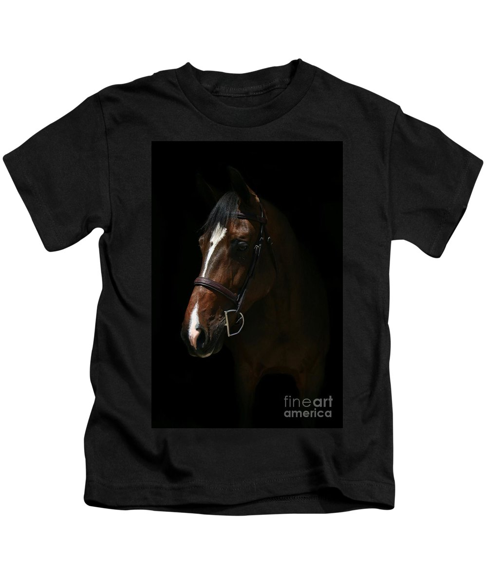 Kids T-Shirt featuring the photograph Lucia-cora17 by Life With Horses