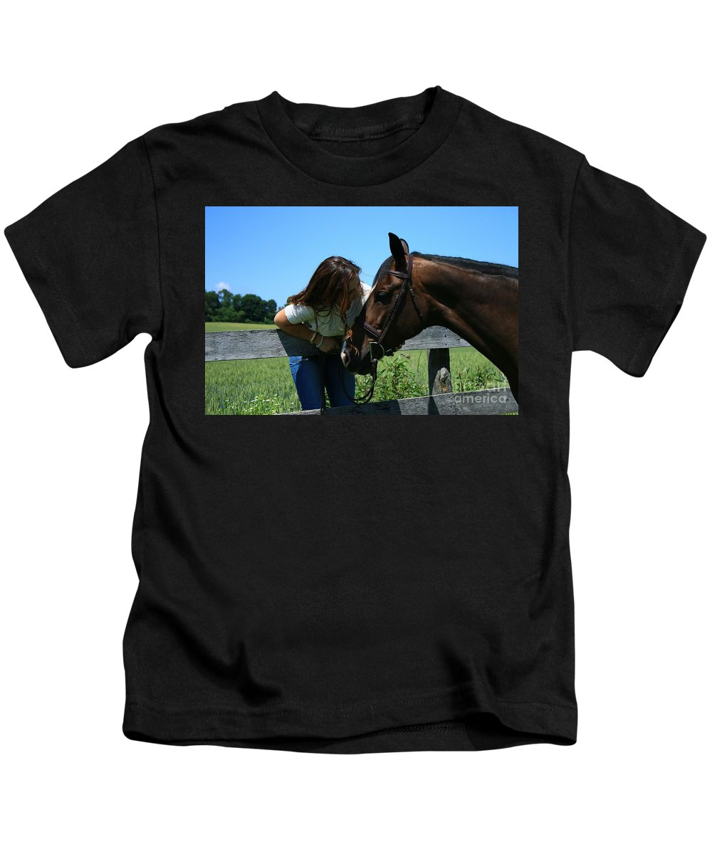 Kids T-Shirt featuring the photograph Lucia-cora25 by Life With Horses