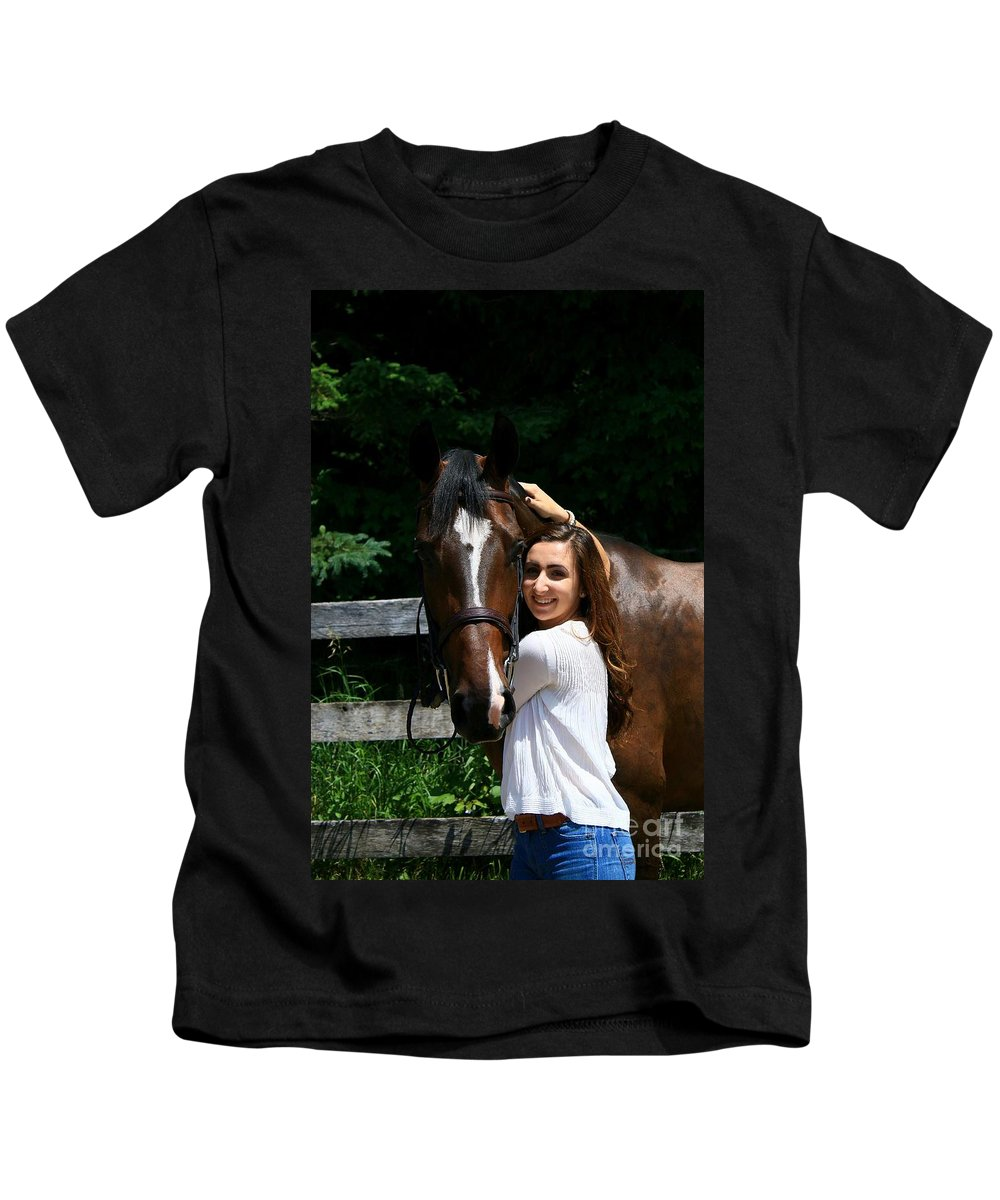 Kids T-Shirt featuring the photograph Lucia-cora6 by Life With Horses