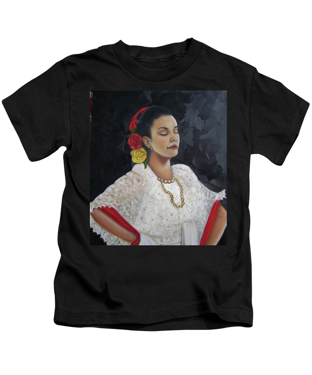 Kids T-Shirt featuring the painting Lucinda by Toni Berry