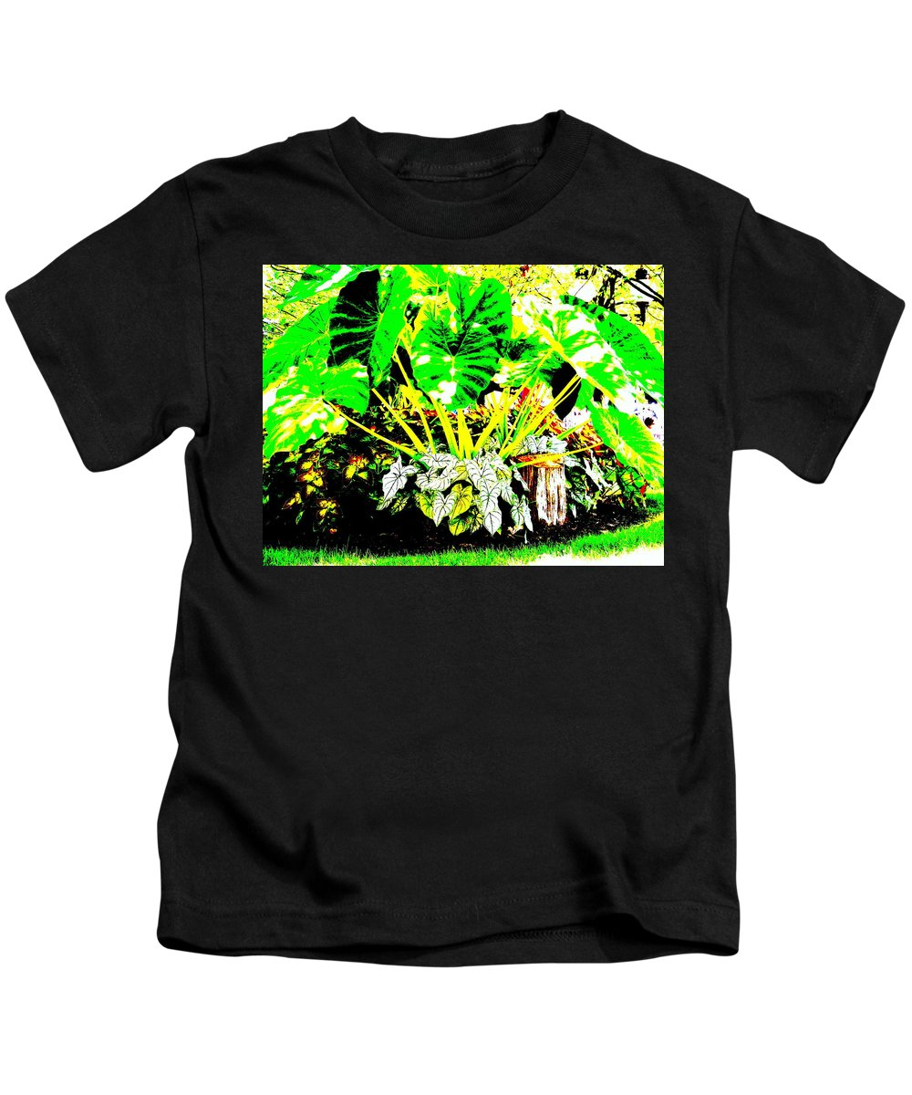 Plants Kids T-Shirt featuring the photograph Lush Garden by Ed Smith