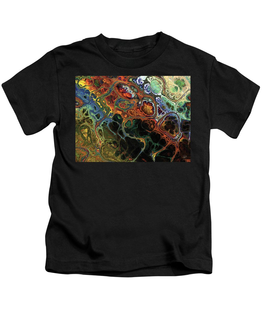 Abstract Kids T-Shirt featuring the digital art Luxuriant Fractal by Amy Nordby