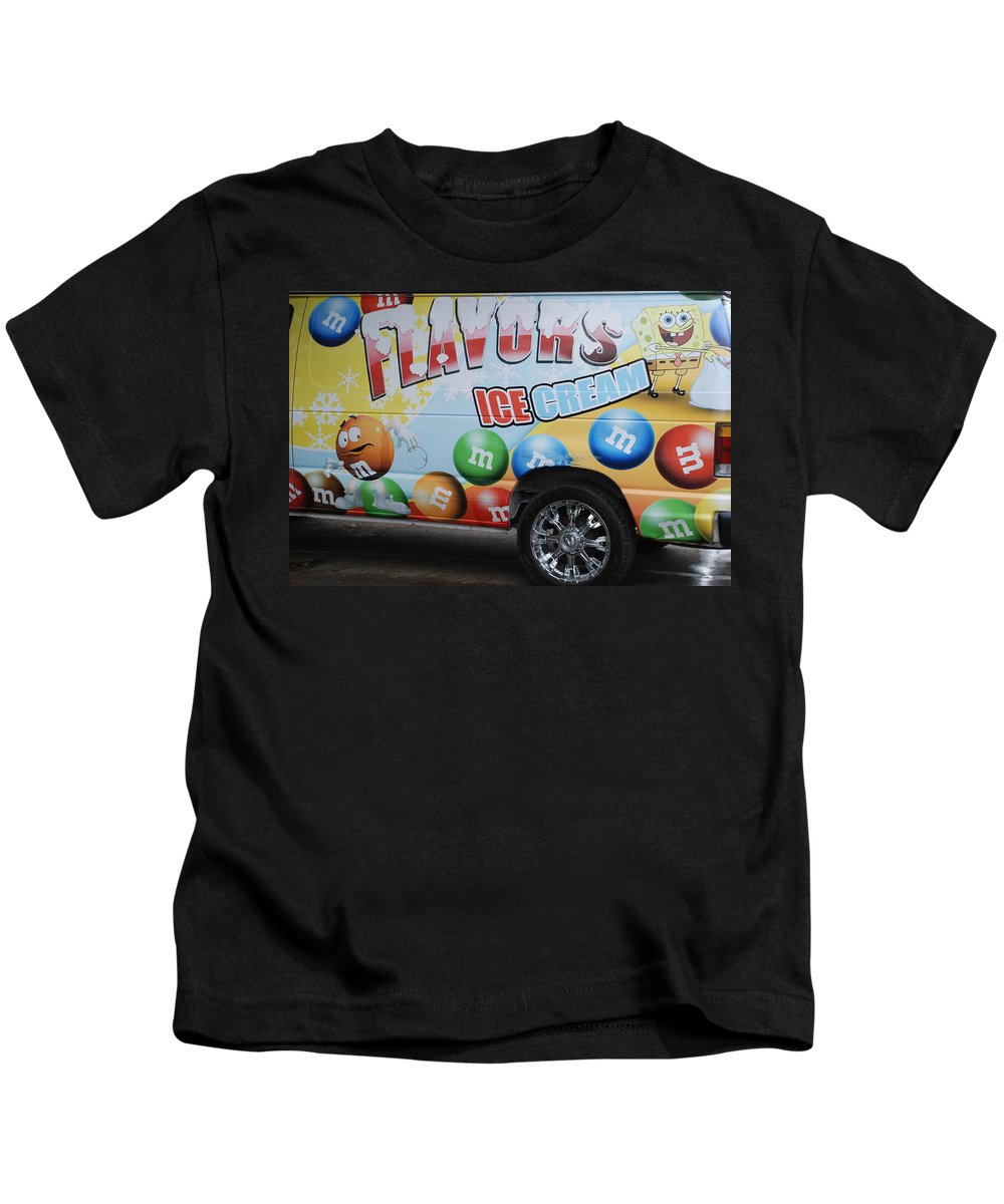 Sponge Bob Kids T-Shirt featuring the photograph M And M Flavors For The Kids by Rob Hans