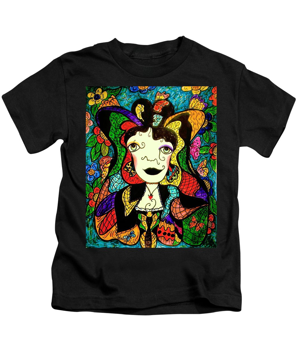 Fantasy Kids T-Shirt featuring the painting Madame Butterfly by Natalie Holland