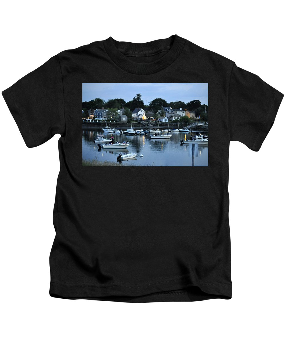 Portsmouth Nh Kids T-Shirt featuring the photograph Magic Hour Mhp by Jim Brage