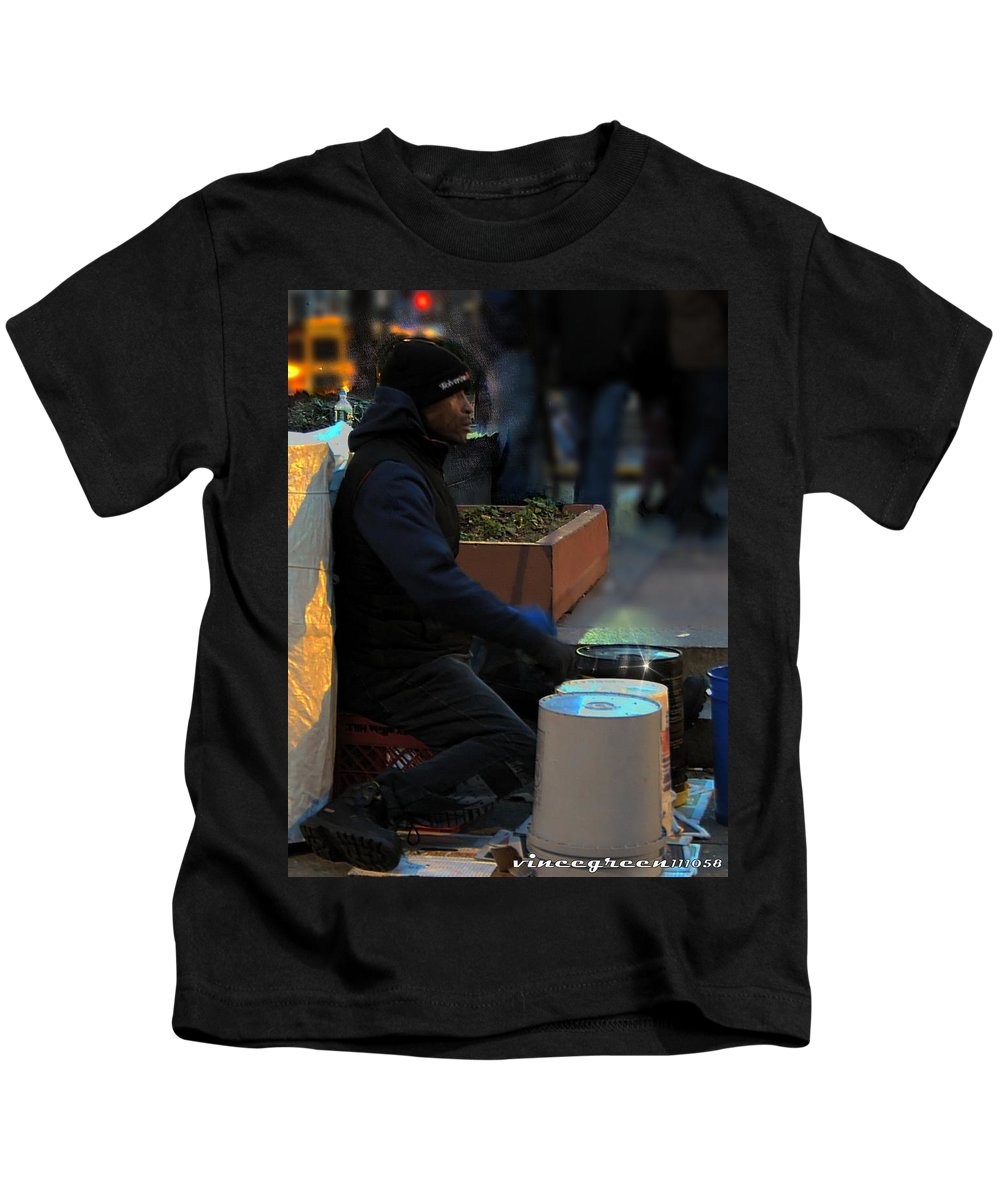 Philadelphia Kids T-Shirt featuring the digital art Magic In Love Park by Vincent Green