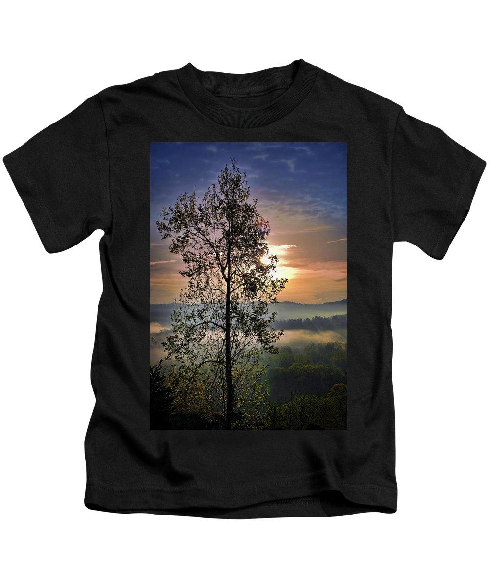 Morning Kids T-Shirt featuring the digital art Magic Morning by Anita Hubbard