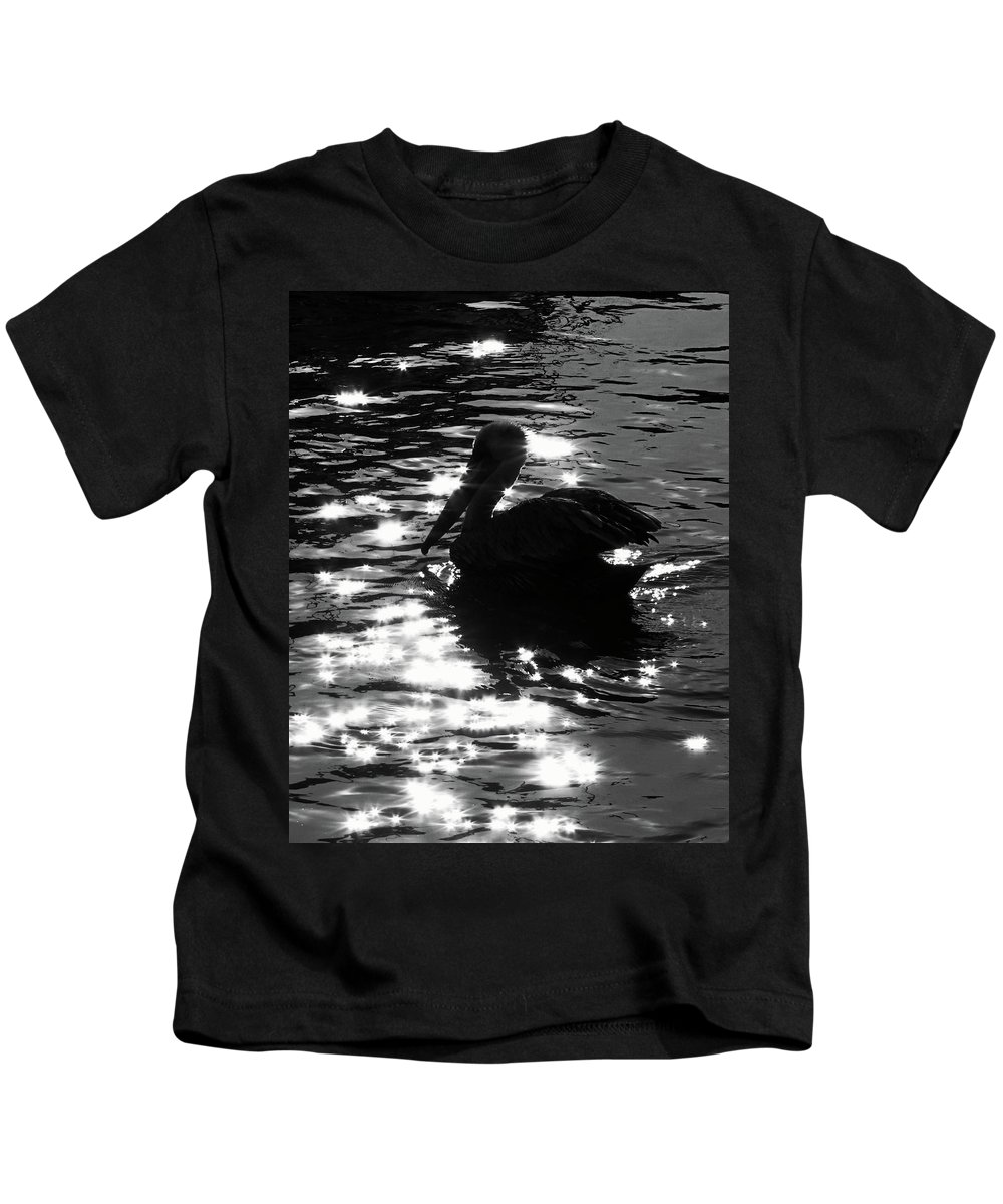 Nature Kids T-Shirt featuring the photograph Magical Pelican by Peg Urban