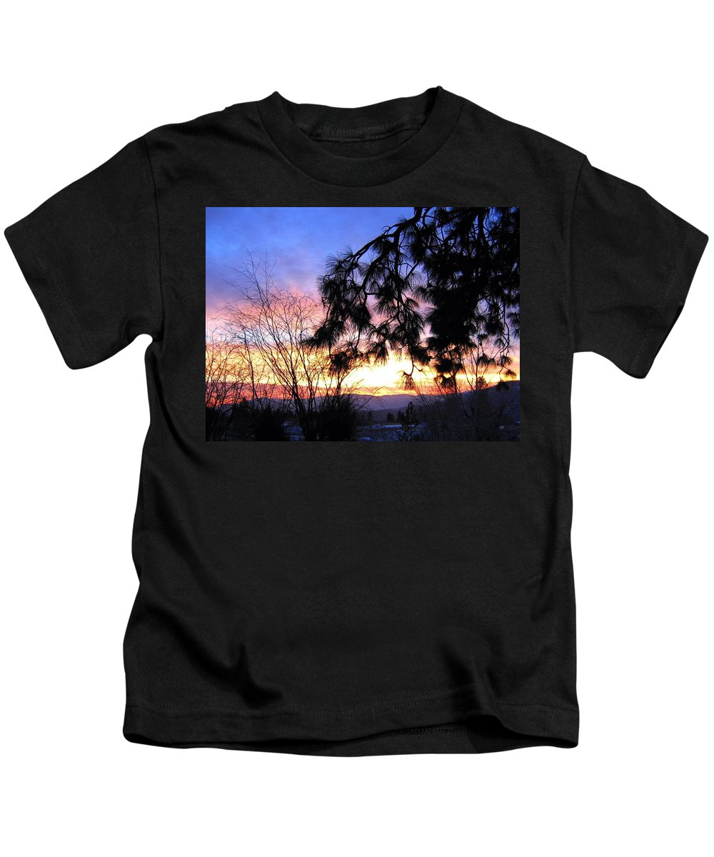 Magnificent Kids T-Shirt featuring the photograph Magnificent Winter Sky by Will Borden