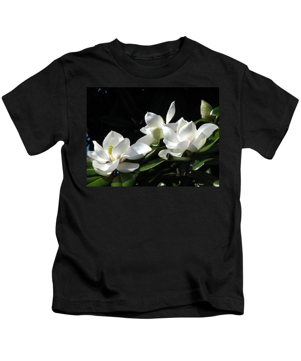 Patzer Kids T-Shirt featuring the photograph Magnolia by Greg Patzer