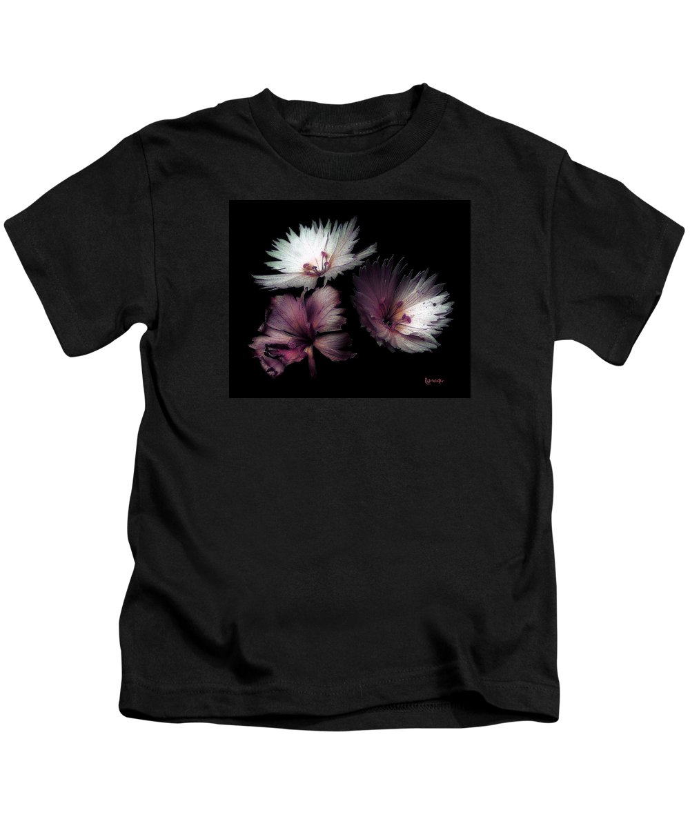 Dianthus Kids T-Shirt featuring the painting Maiden Mother Crone by RC DeWinter