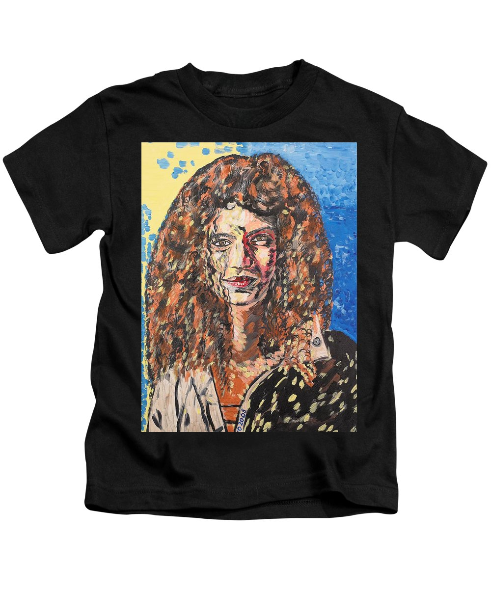 Human Kids T-Shirt featuring the painting Maja by Valerie Ornstein