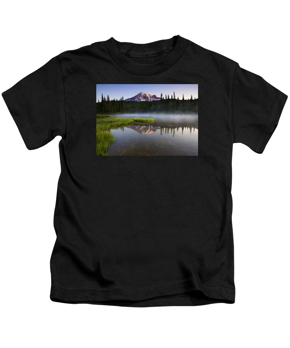 Lake Kids T-Shirt featuring the photograph Majestic Dawn by Mike Dawson