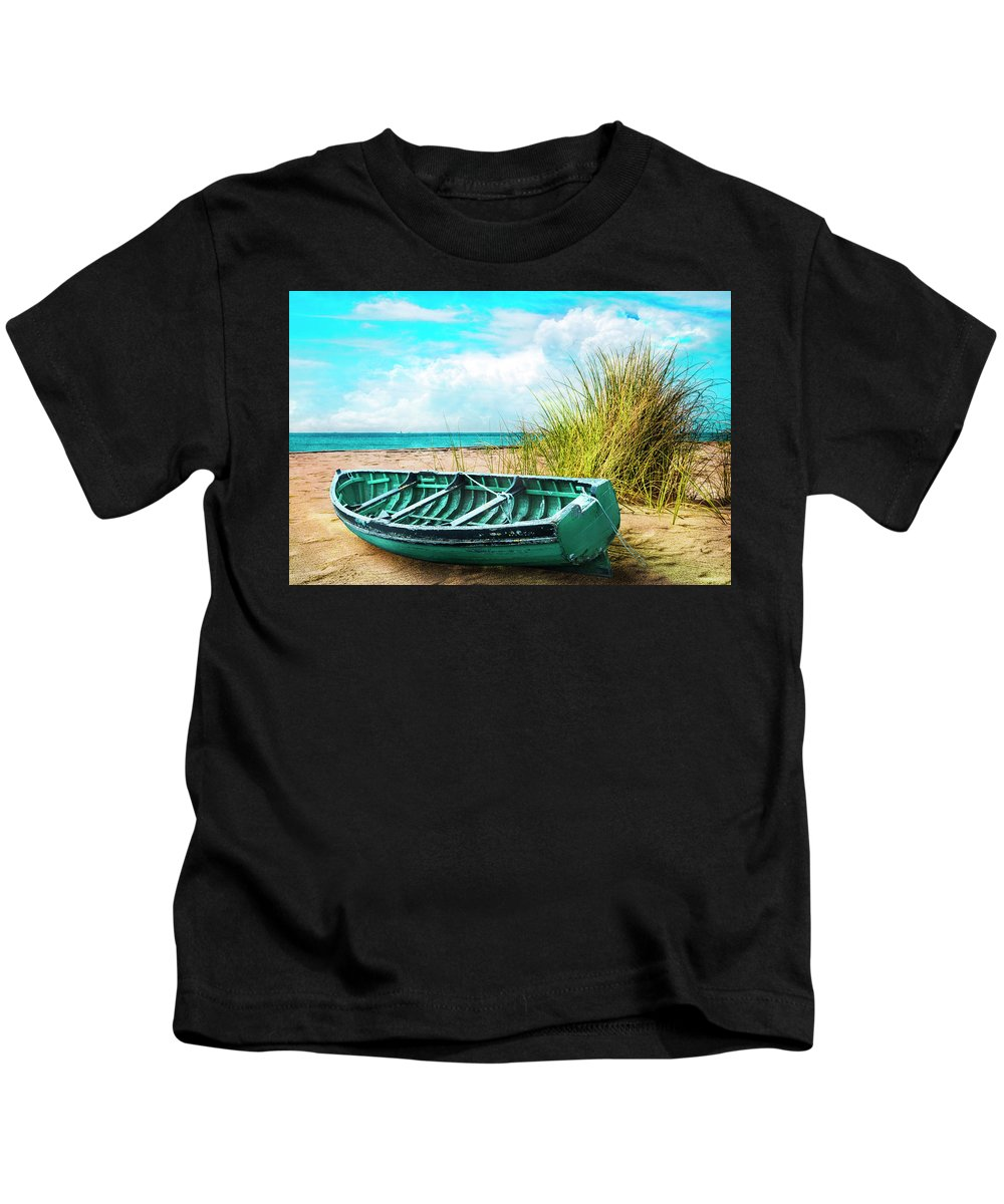 Boats Kids T-Shirt featuring the photograph Making Summer Memories by Debra and Dave Vanderlaan