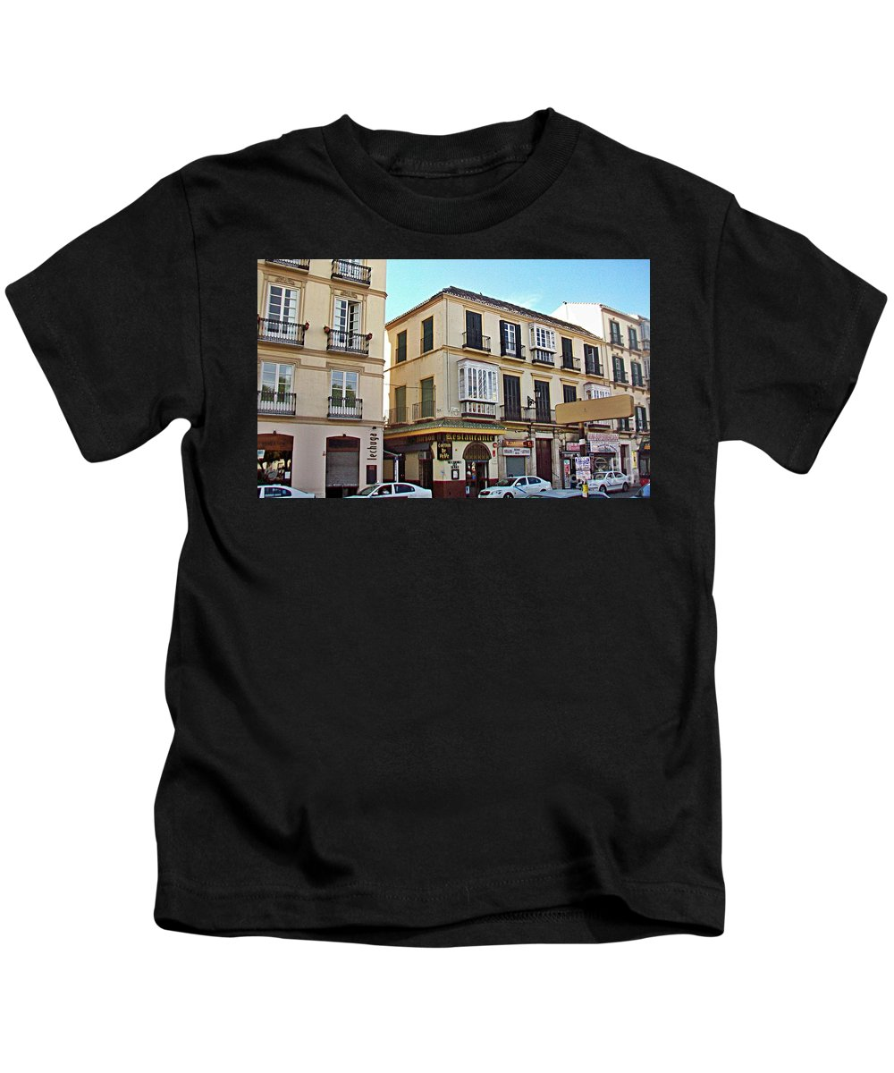 Malaga Kids T-Shirt featuring the photograph Malaga-2010-33 by Rezzan Erguvan-Onal