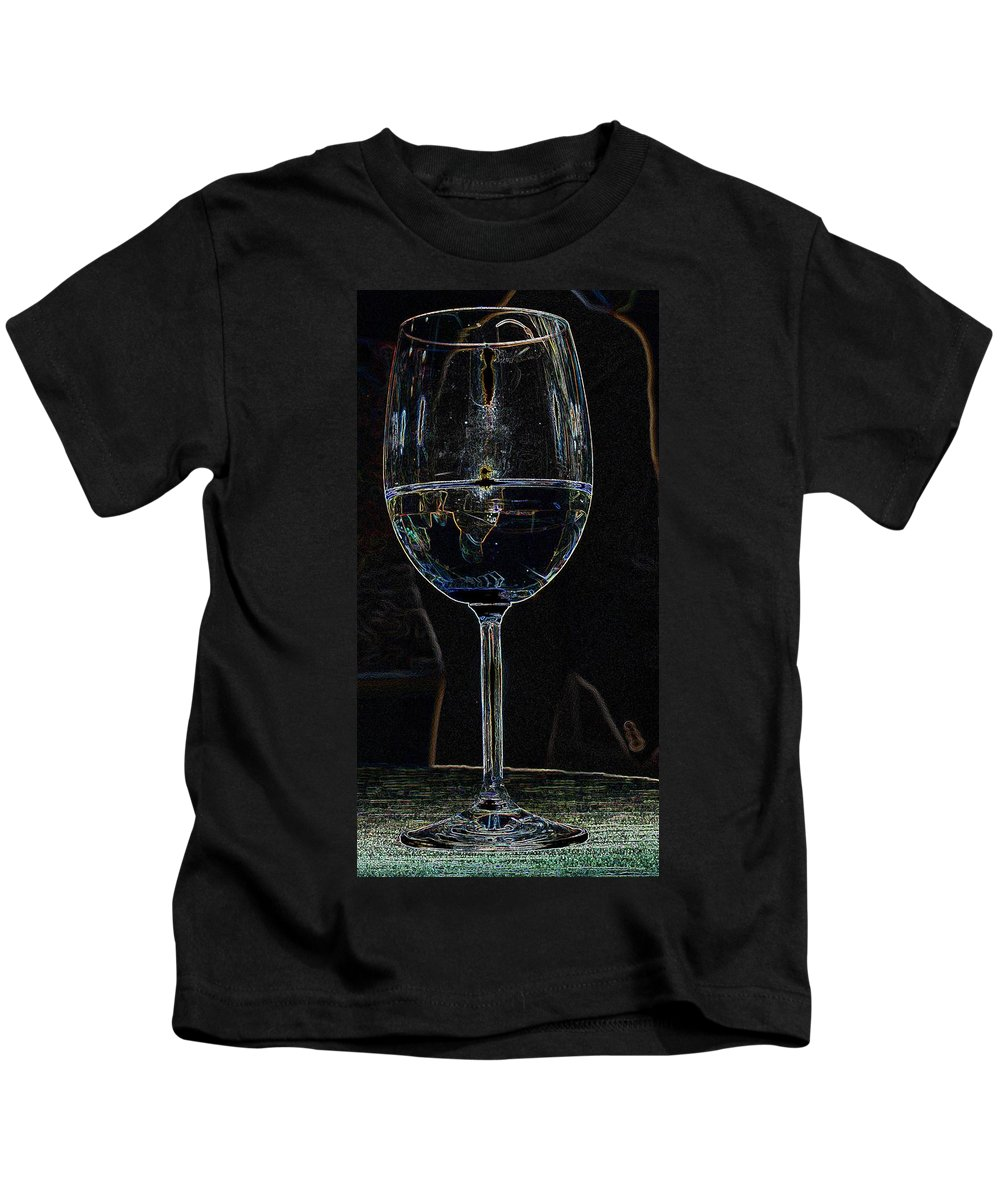 Wine Kids T-Shirt featuring the photograph Man In A Glass by Ian MacDonald