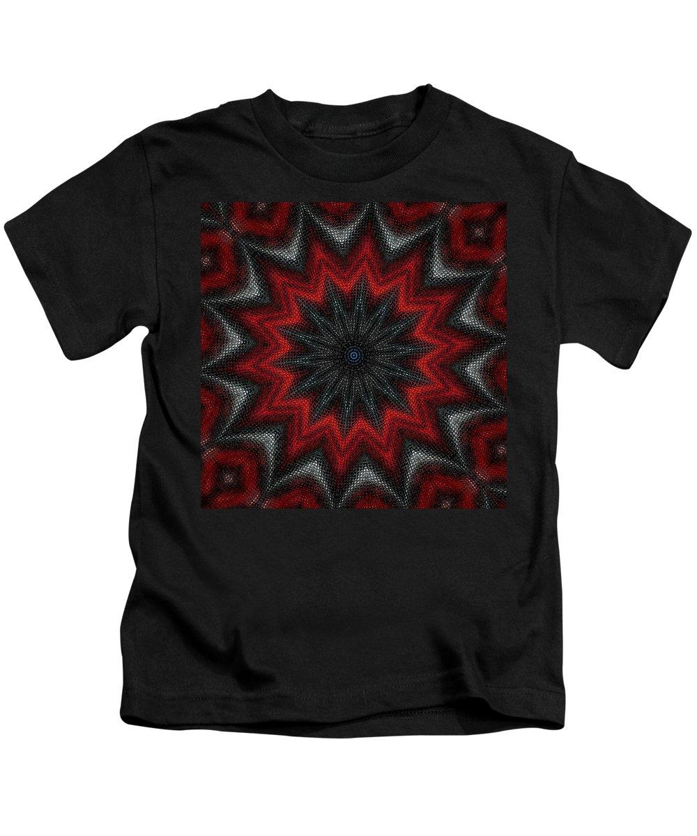 Digital Painting Kids T-Shirt featuring the digital art Mandala by David Lane