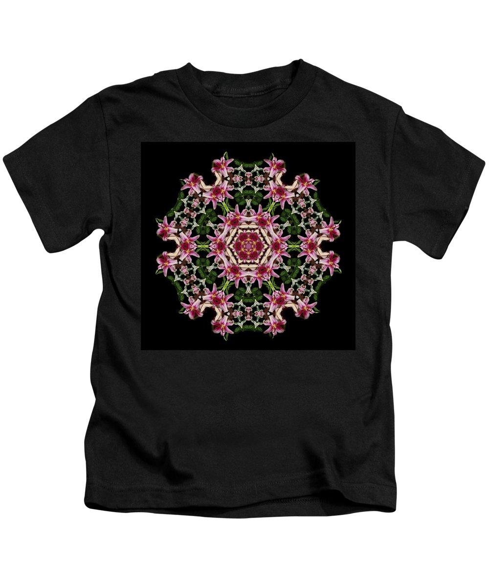 Mandala Kids T-Shirt featuring the photograph Mandala Monadala Lisa by Nancy Griswold