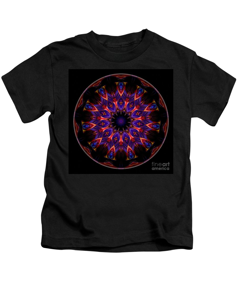 Talisman Kids T-Shirt featuring the digital art Mandala - Talisman 1449 by Marek Lutek