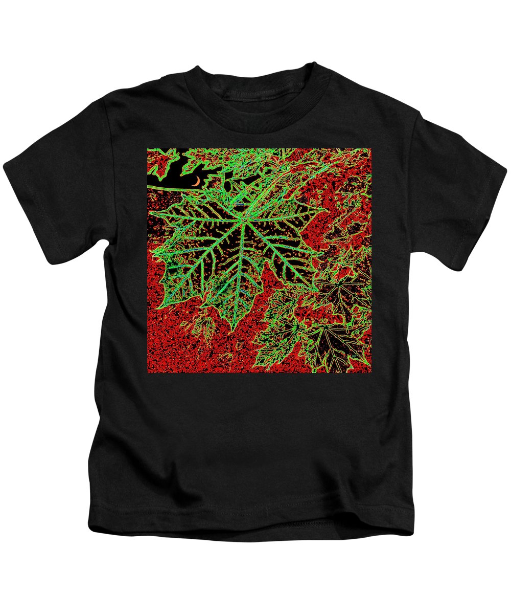 Cheerful Kids T-Shirt featuring the digital art Maple Mania 7 by Will Borden
