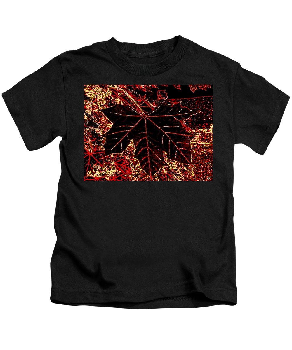 Cheerful Kids T-Shirt featuring the digital art Maple Mania 9 by Will Borden