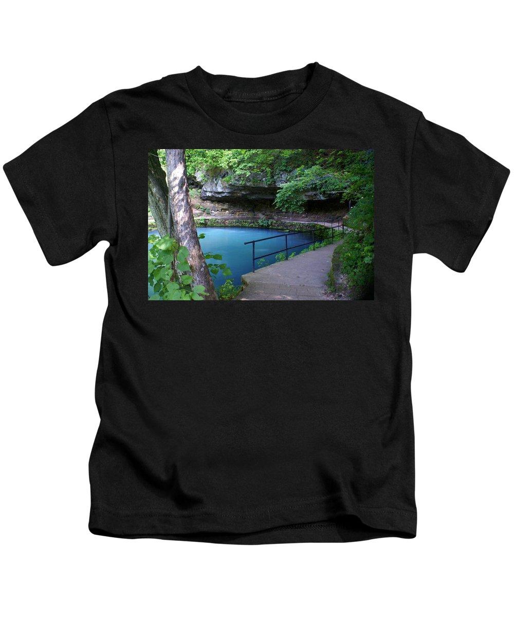 Maramec Springs Park Kids T-Shirt featuring the photograph Maramec Springs 3 by Marty Koch