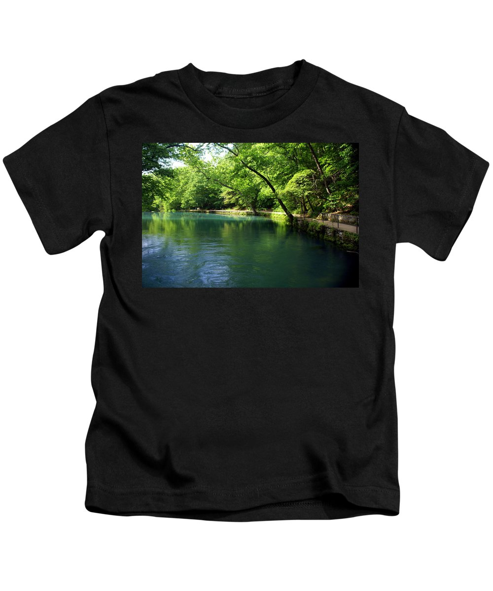Maramec Springs Park Kids T-Shirt featuring the photograph Maramec Springs 4 by Marty Koch