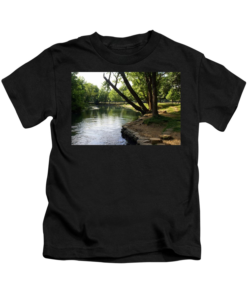 Maramec Springs Park Kids T-Shirt featuring the photograph Maramec Springs 5 by Marty Koch