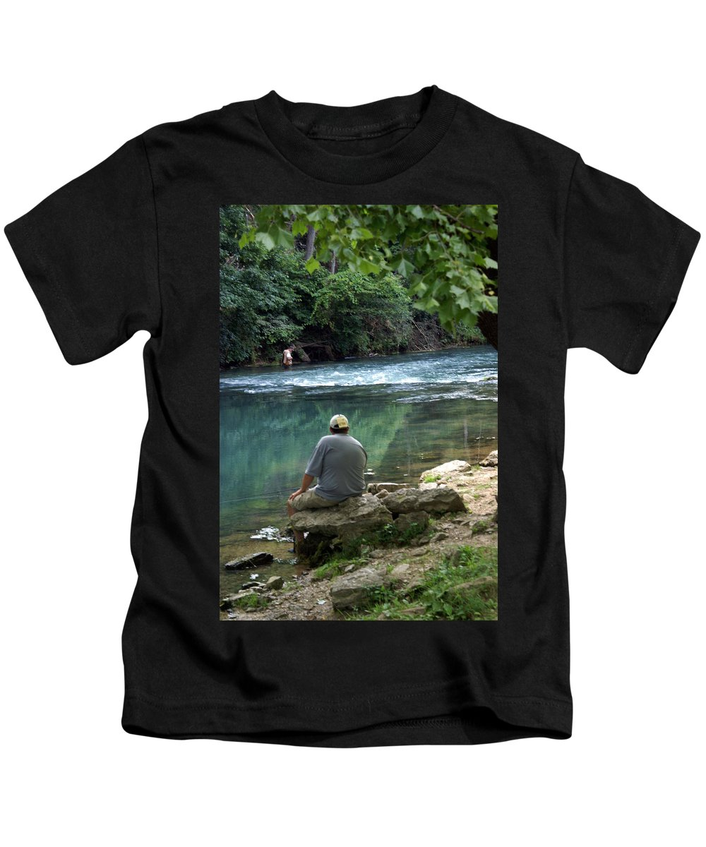 Maramec Springs Park Kids T-Shirt featuring the photograph Maramec Springs 6 by Marty Koch