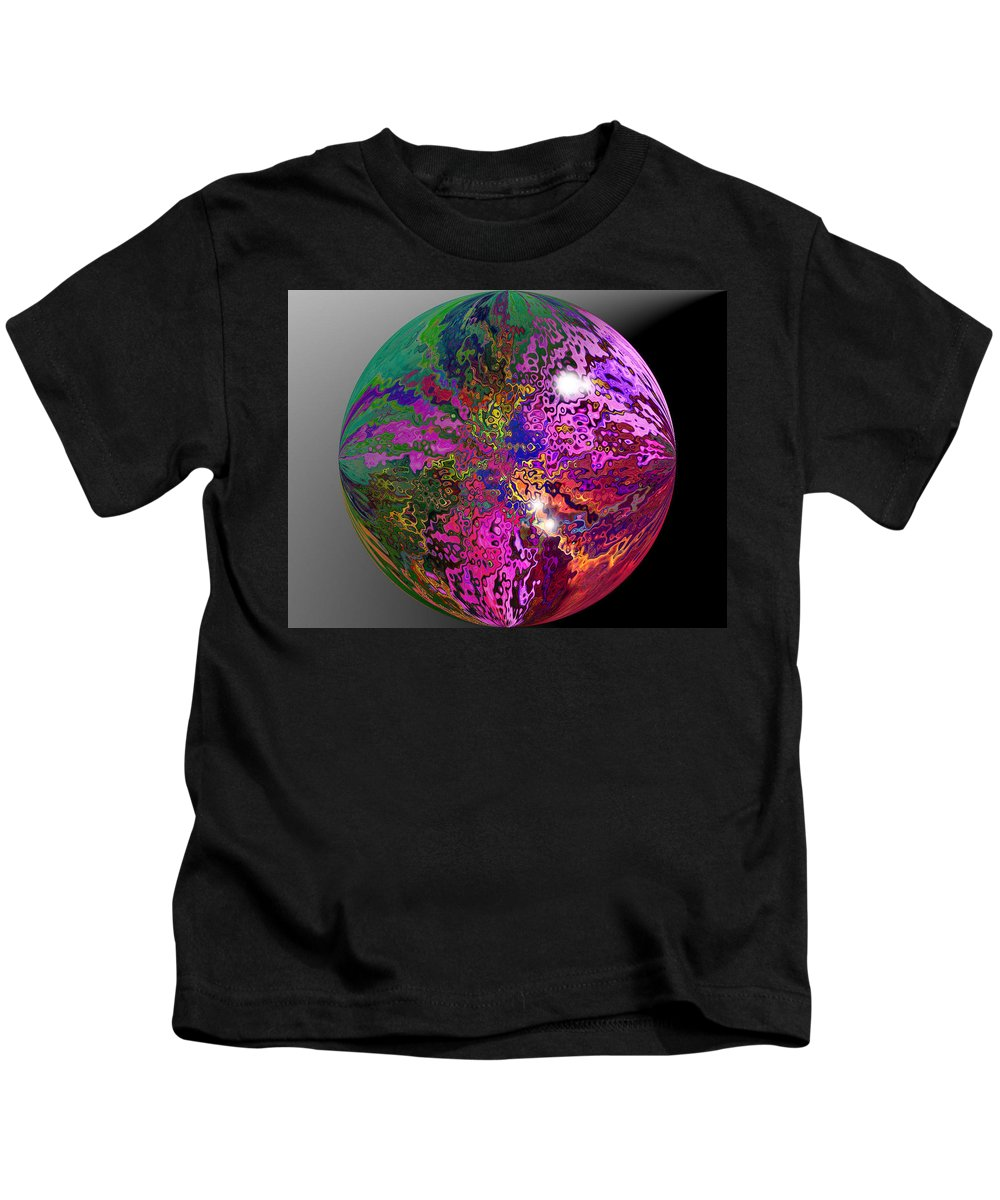 Colours Of The Rainbow. Kids T-Shirt featuring the digital art Marble by Gary Yates