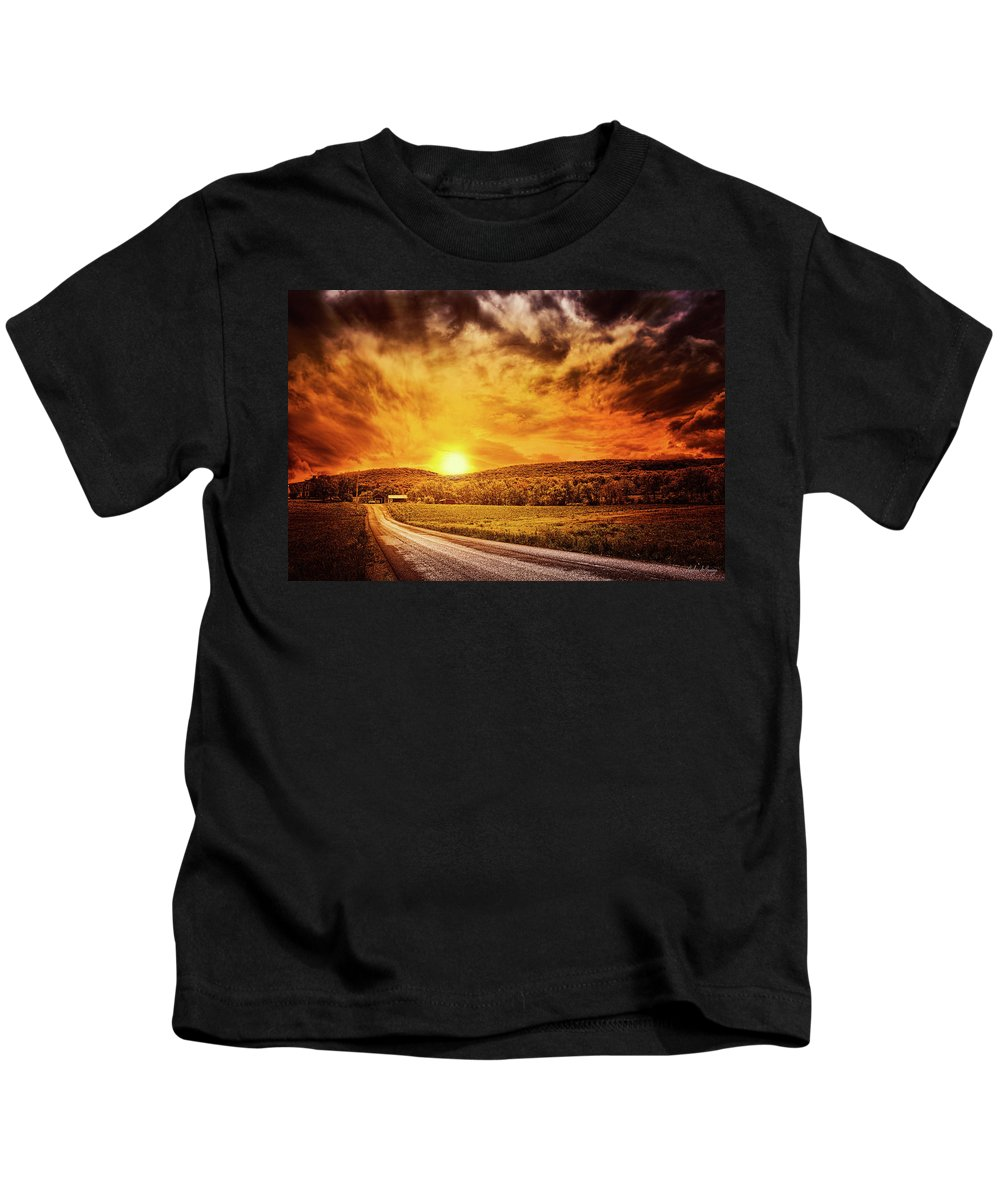 Christian Kids T-Shirt featuring the photograph Marbled Sky by Joshua Zaring