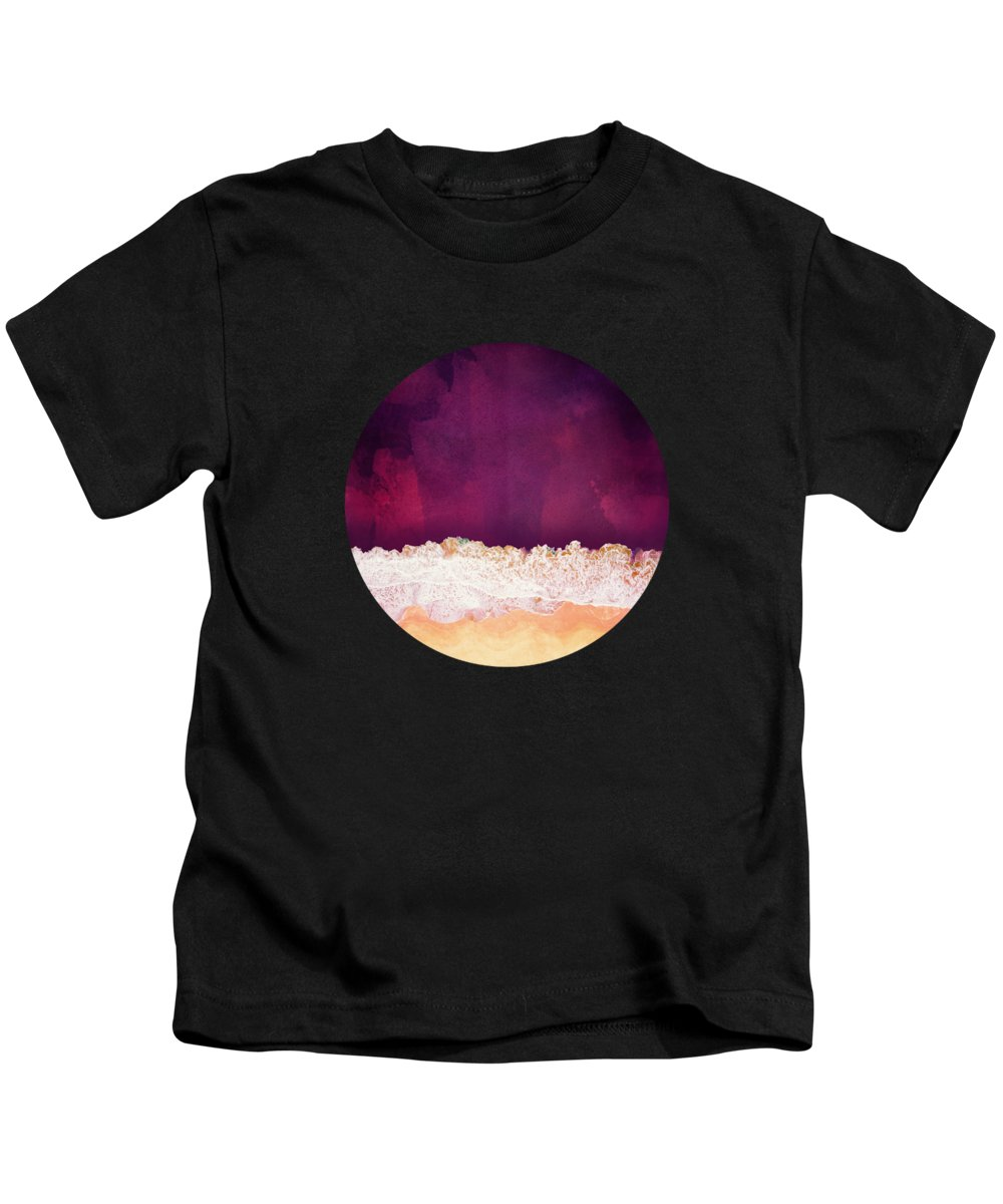 Maroon Kids T-Shirt featuring the photograph Maroon Ocean by Spacefrog Designs