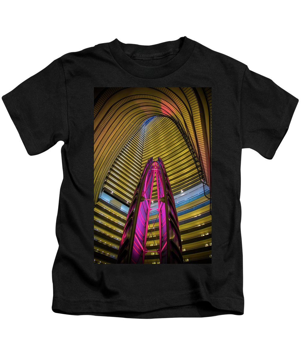 Atlanta Kids T-Shirt featuring the photograph Marriott Marquise by Kenny Thomas