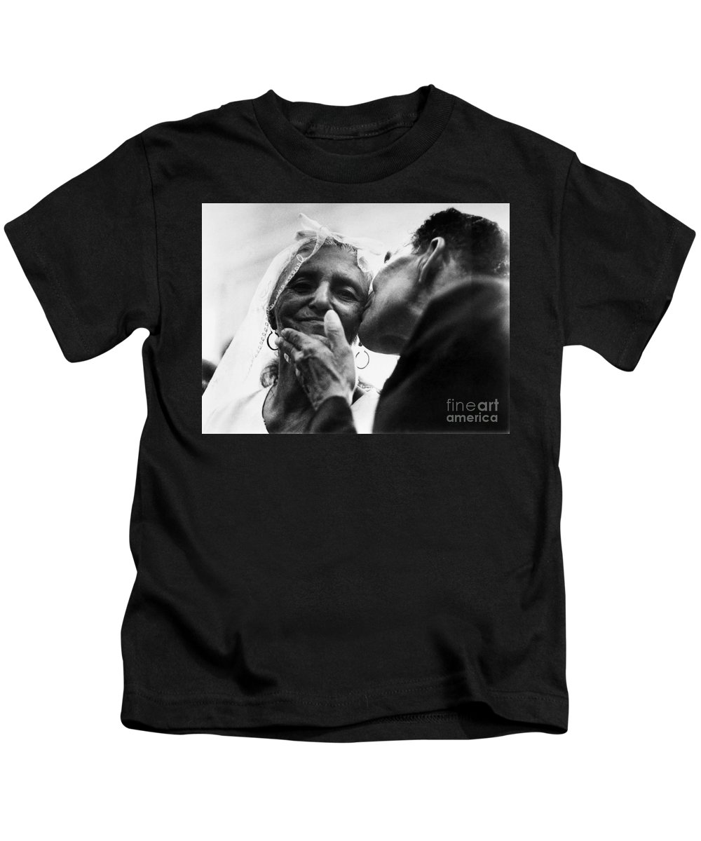 100 Kids T-Shirt featuring the photograph Marrying At 100 by Granger
