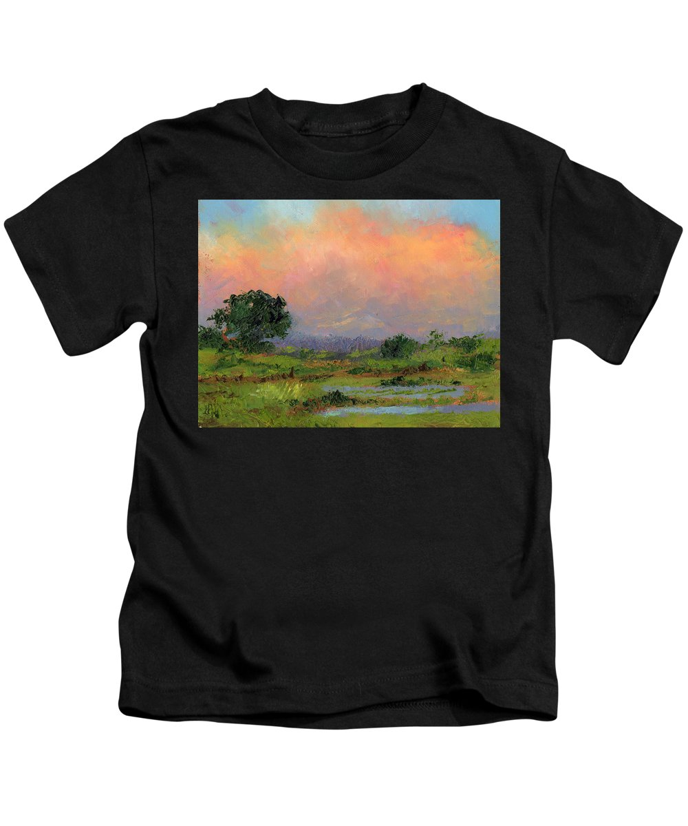 Palette Knife Kids T-Shirt featuring the painting Marsh by Diane Martens