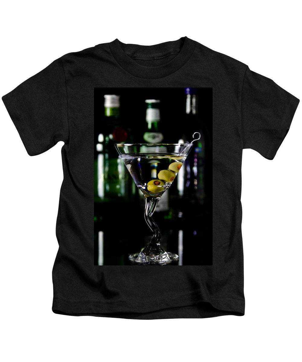 Alcohol Kids T-Shirt featuring the photograph Martini by Jason Smith