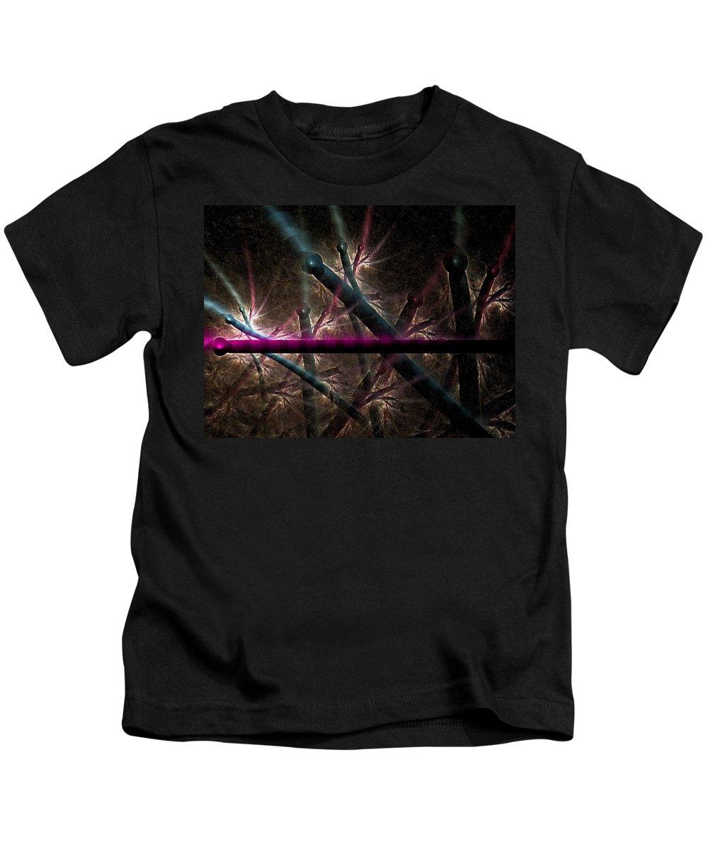 Fractal Kids T-Shirt featuring the digital art Matchstick Madness by Amorina Ashton