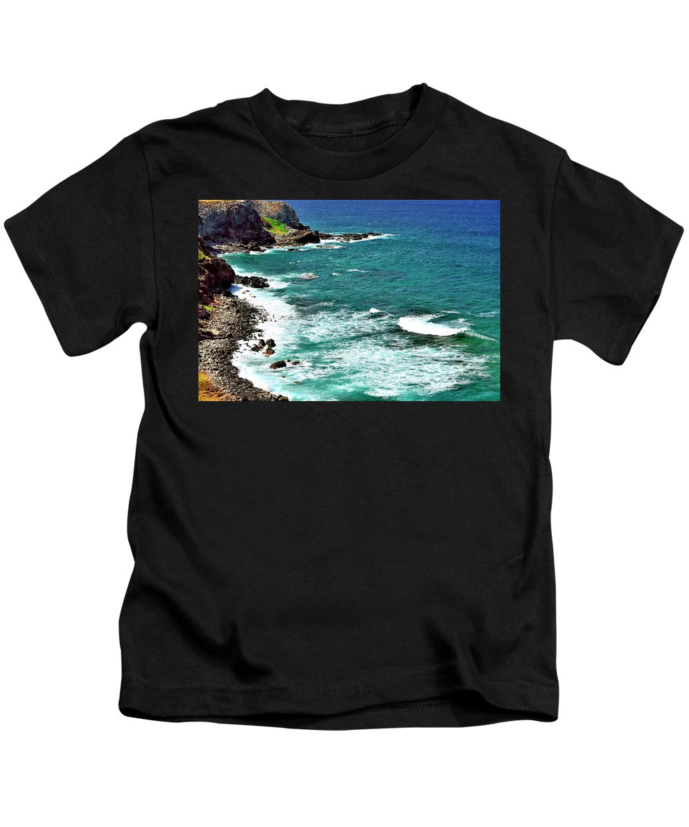 Ocean Kids T-Shirt featuring the photograph Maui Seascape by Gerald Blaine