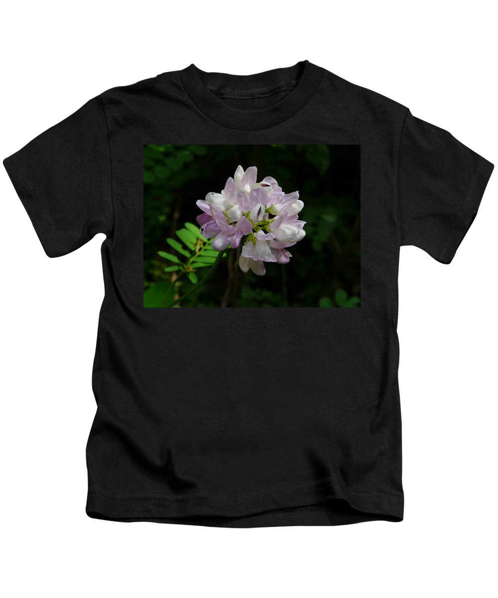Flower Kids T-Shirt featuring the photograph Mauve Flower by Valerie Ornstein