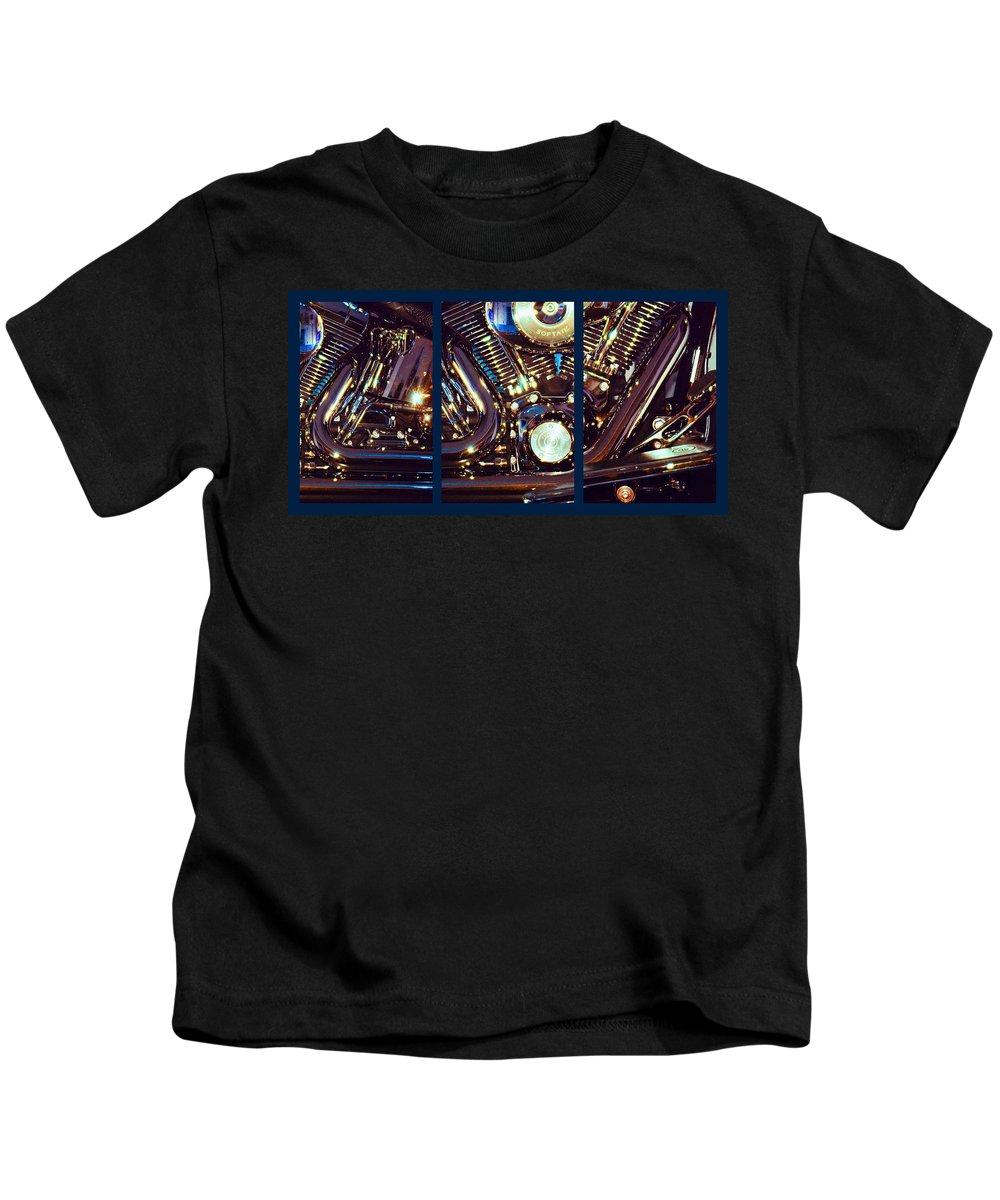 Harley Davidson Kids T-Shirt featuring the photograph Mechanism by Steve Karol