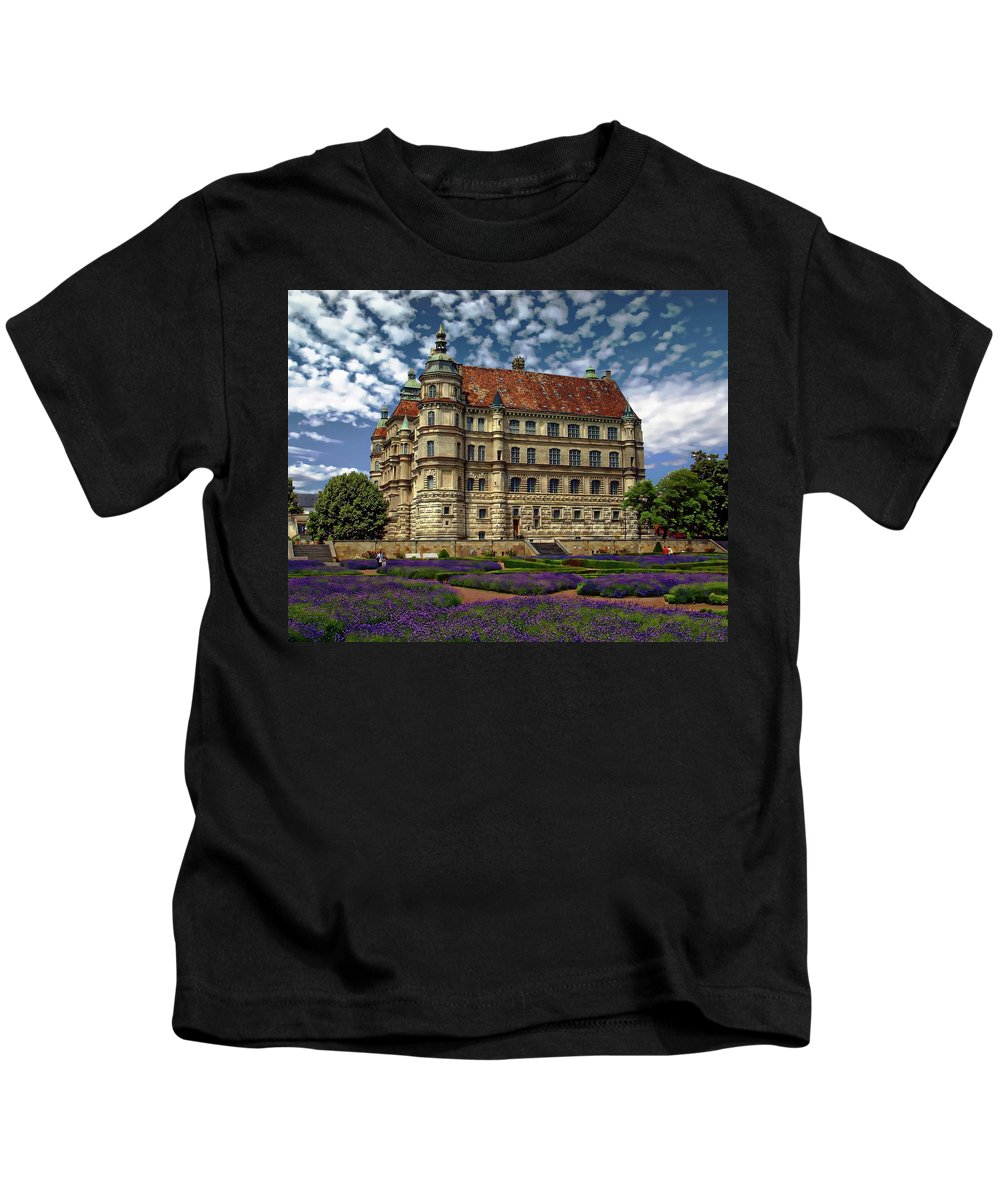 Palace Kids T-Shirt featuring the photograph Mecklenburg Palace by Anthony Dezenzio