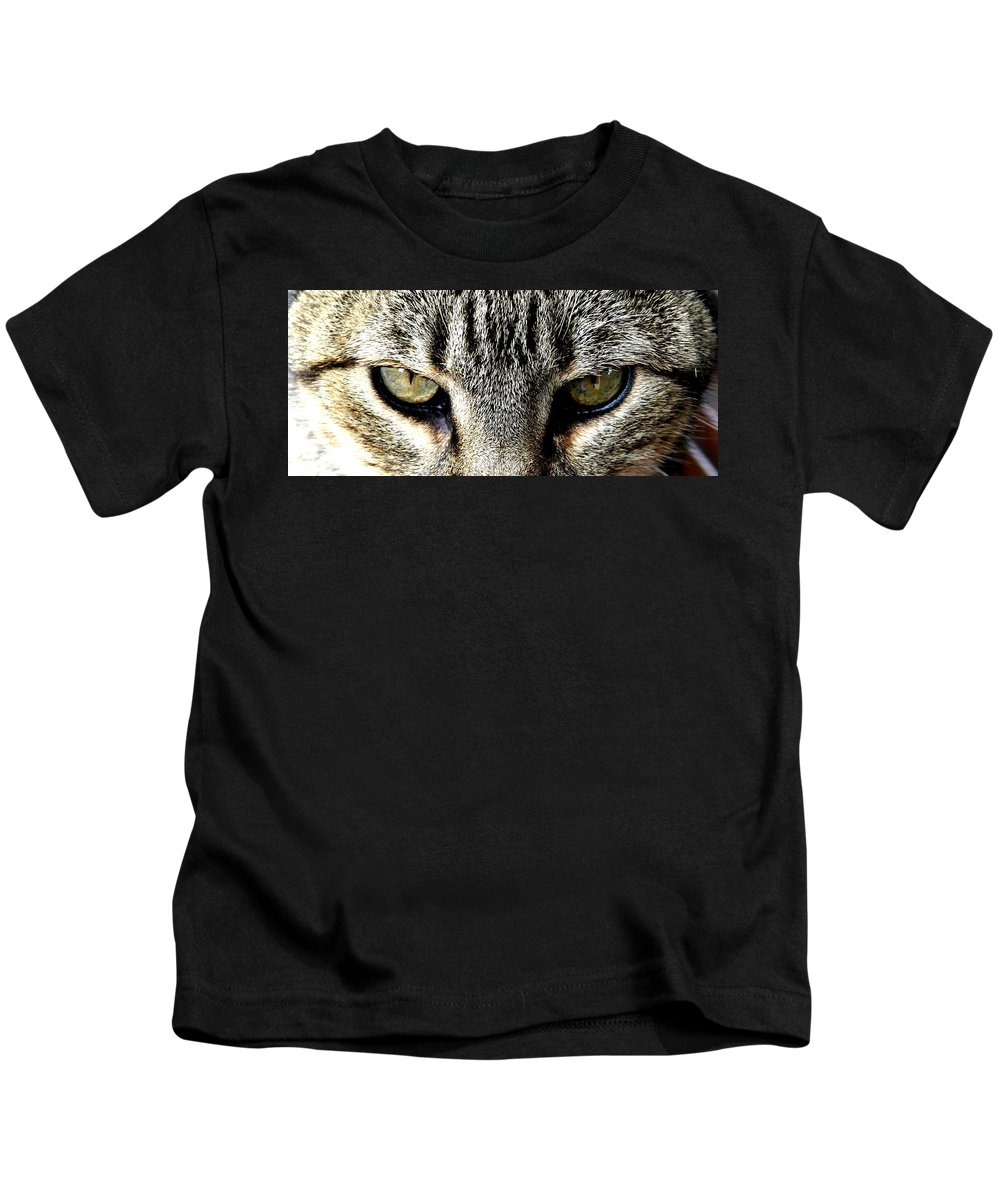 Cat Kids T-Shirt featuring the photograph Me...dangerous...never. by Valerie Ornstein