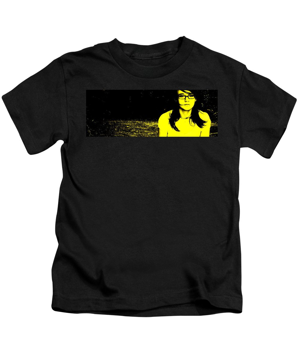 Medusa Kids T-Shirt featuring the photograph Medusa by Ed Smith