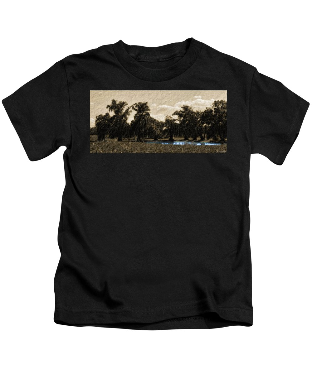Landscape Kids T-Shirt featuring the photograph Meet Me By The Willows by Lauren Radke