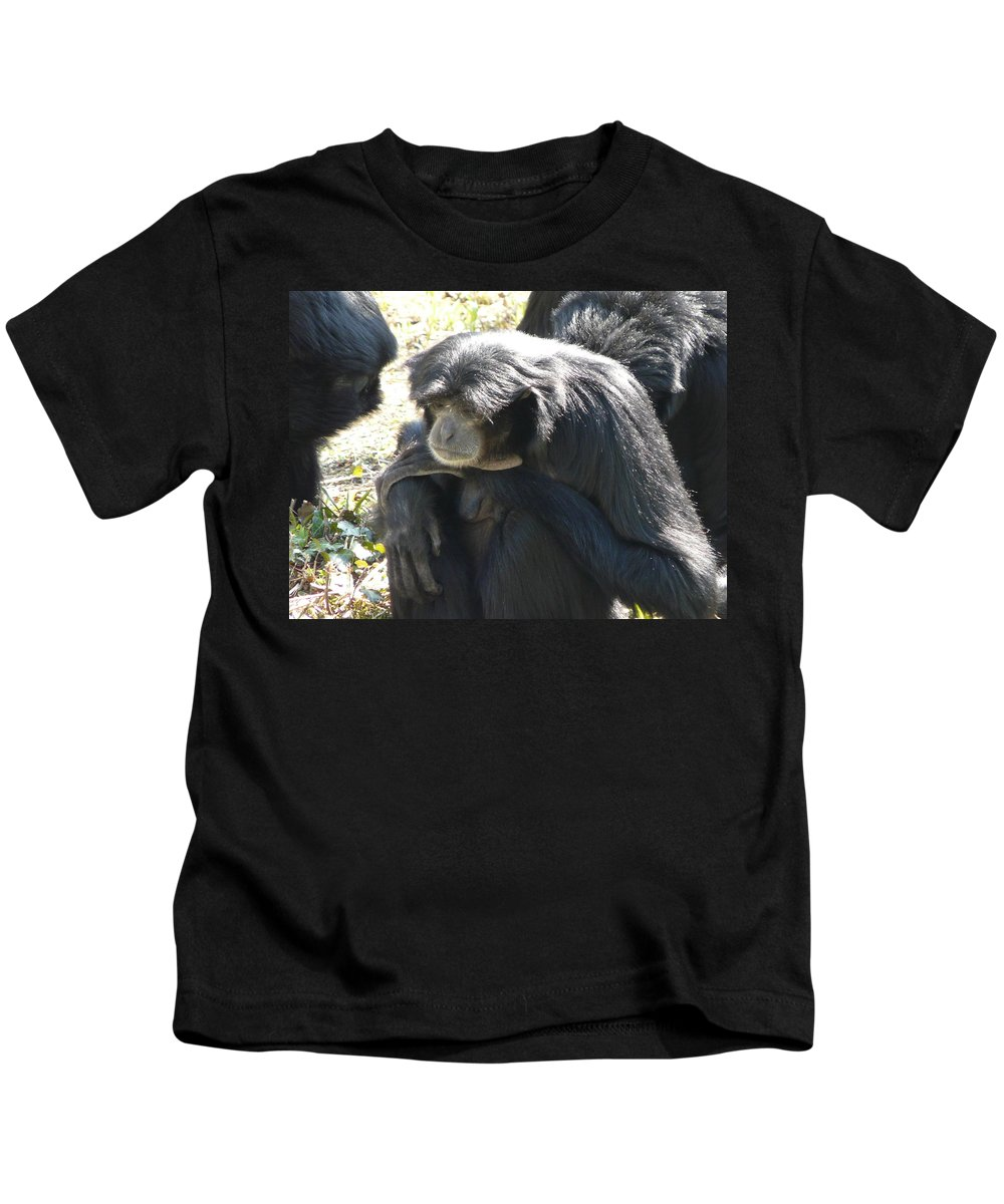 Animal Kids T-Shirt featuring the photograph Melancholy by Valerie Ornstein