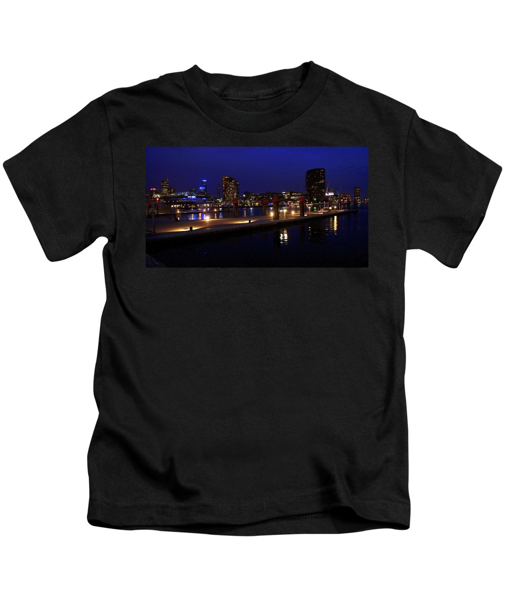 Melbourne Kids T-Shirt featuring the photograph Melbourne by Kathryn Potempski