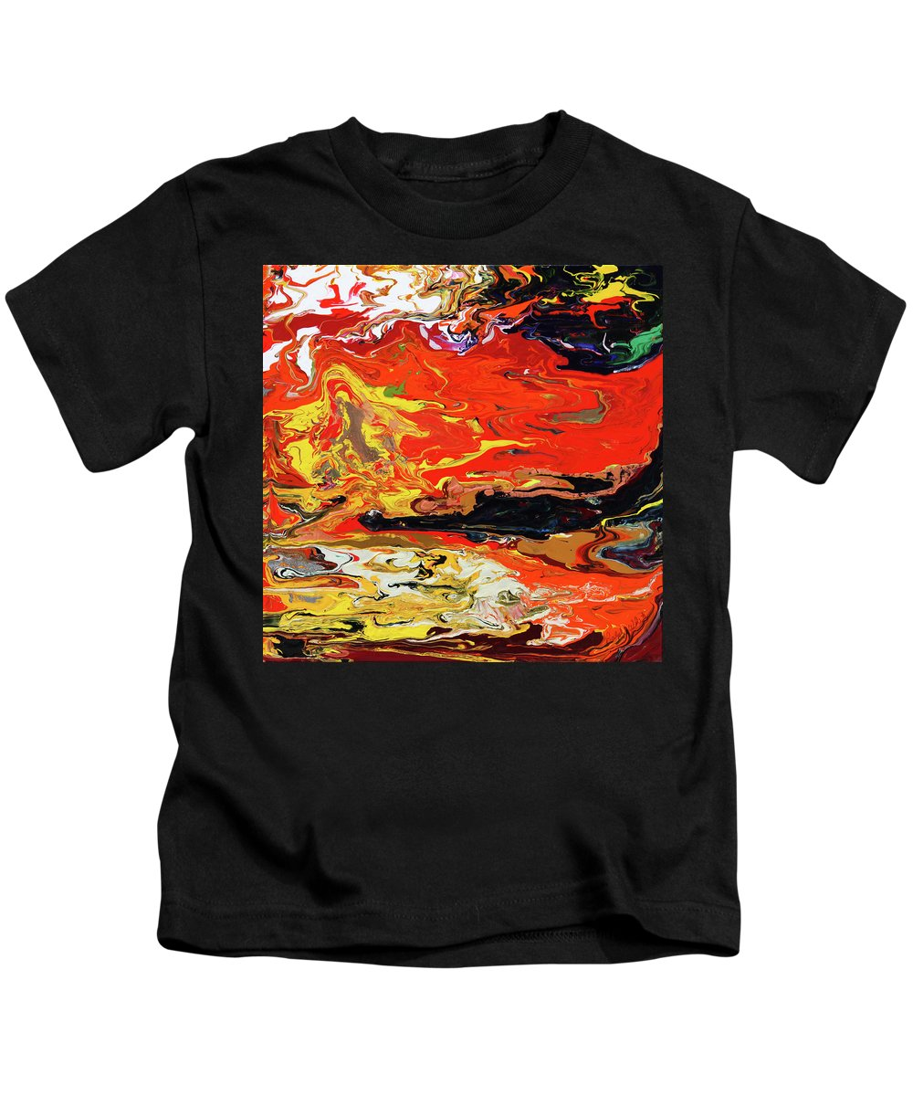 Fusionart Kids T-Shirt featuring the painting Melt by Ralph White