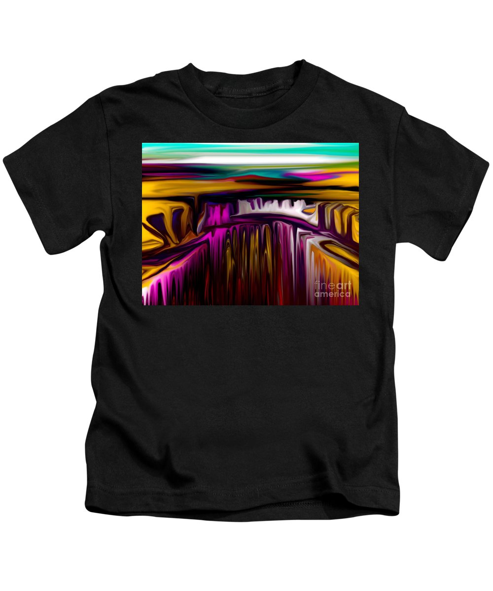 Abstract Kids T-Shirt featuring the digital art Melting by David Lane
